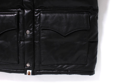 LEATHER CLASSIC DOWN JACKET
