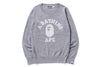 COLLEGE CREWNECK KNIT