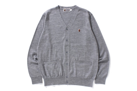 APE HEAD ONE POINT KNIT CARDIGAN