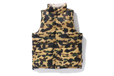 1ST CAMO REVERSIBLE DOWN VEST