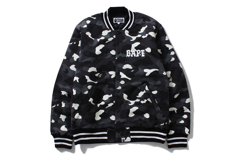 CITY CAMO SWEAT VARSITY JACKET