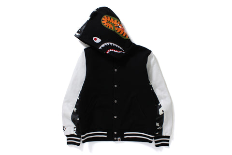 CITY CAMO SHARK SWEAT VARSITY HOODIE JACKET