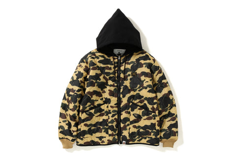 1ST CAMO QUILTING HOODIE JACKET
