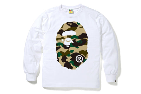 1ST CAMO BIG APE HEAD LONG SLEEVE TEE