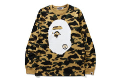 1ST CAMO BIG APE HEAD L/S TEE