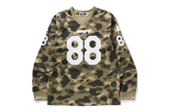 COLOR CAMO MESH FOOTBALL L/S TEE