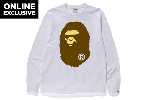 APE HEAD LONG SLEEVE TEE -ONLINE EXCLUSIVE-