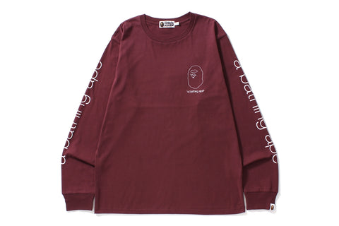 A BATHING APE L/S TEE