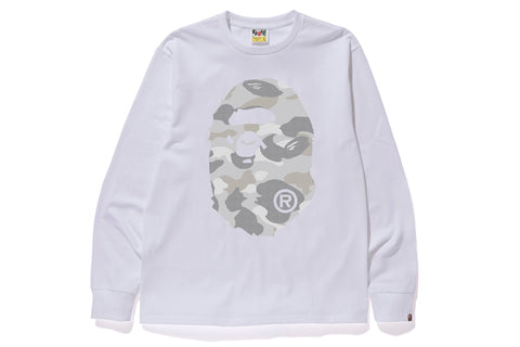 DOT CAMO BIG APE HEAD L/S TEE