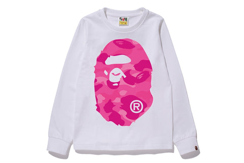 COLOR CAMO BIG APE HEAD L/S TEE