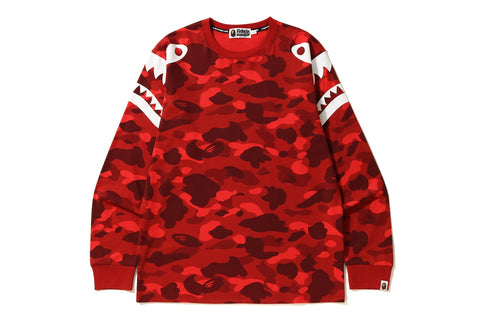 COLOR CAMO SHARK SHOULDER L/S TEE
