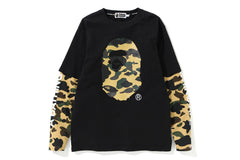 1ST CAMO APE HEAD LAYERED L/S TEE