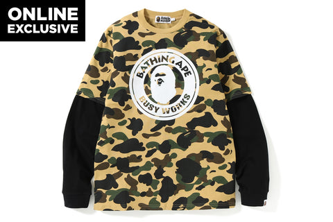 1ST CAMO LAYERED  L/S TEE [ONLINE EXCLUSIVE]