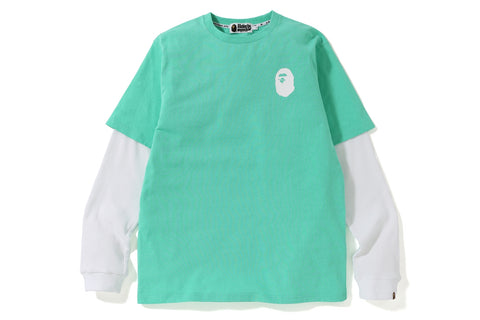 PASTEL COLOR LAYERED  L/S TEE