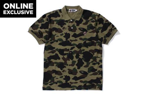 1ST CAMO APE HEAD ONE POINT POLO -ONLINE EXCLUSIVE-