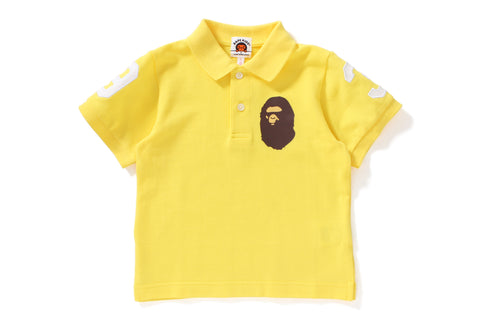 NEON COLOR LARGE APE HEAD POLO