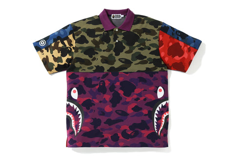 MIX CAMO RELAXED SIDE SHARK POLO