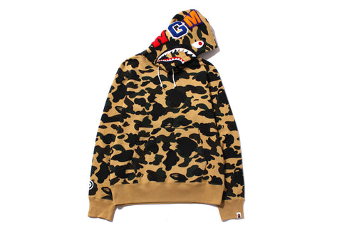 1ST CAMO SHARK PULLOVER HOODIE