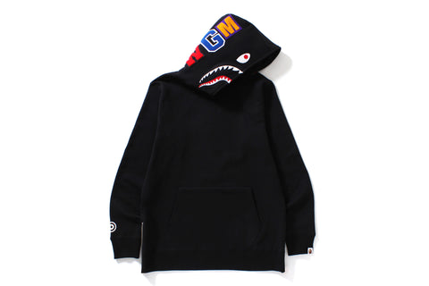 SHARK SIDE ZIP WIDE LONG LENGTH PULLOVER HOODIE