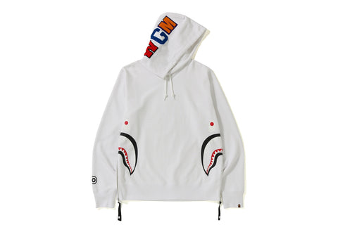 SIDE ZIP SHARK WIDE PULLOVER HOODIE