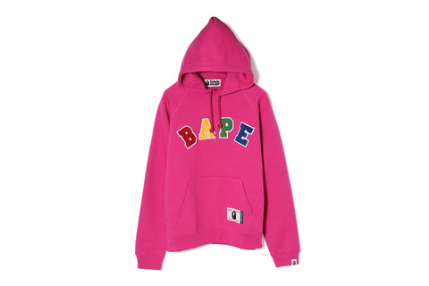 BAPE LETTERED WIDE PULLOVER HOODIE