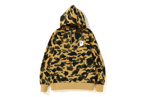 1ST CAMO BIG LOGO WIDE PULLOVER HOODIE