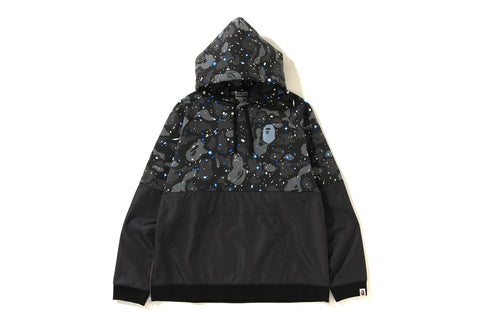 SPACE CAMO WIDE SIDE ZIP PULLOVER HOODIE