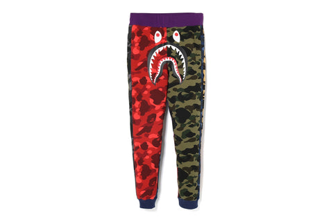 MIX CAMO SHARK CRAZY SLIM SWEAT PANTS