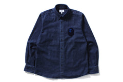 LARGE APE HEAD INDIGO BD SHIRT