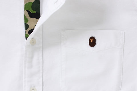 A BATHING APE EMBROIDERY OXFORD BD SHIRT