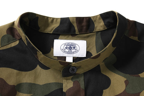 1ST CAMO BAND COLLAR SHIRT