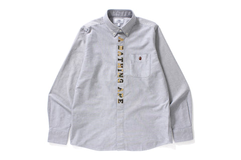 1ST CAMO APPLIQUE OXFORD BD SHIRT