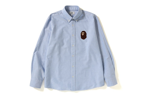 RELAXED LARGE APE HEAD OXFORD SHIRT