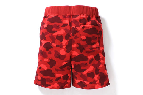 COLOR CAMO SHARK SWEAT SHORTS