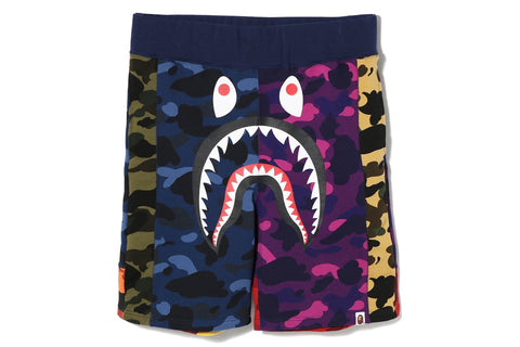 MIX CAMO SWEAT SHORTS