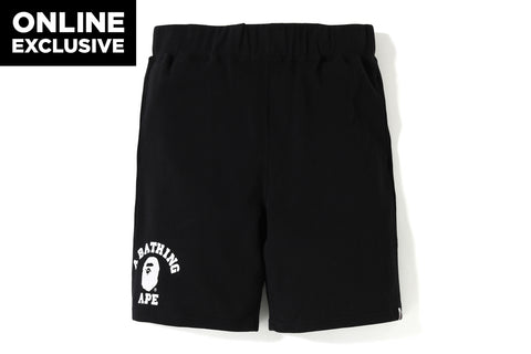 COLLEGE SWEAT SHORTS  [ONLINE EXCLUSIVE]
