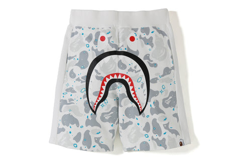 SPACE CAMO SHARK SWEAT SHORTS