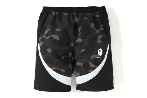 COLOR CAMO COLOR BLOCK SHORTS