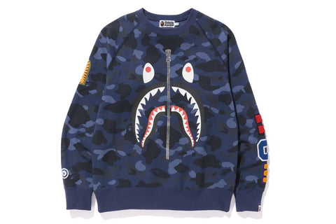 COLOR CAMO SHARK CREWNECK