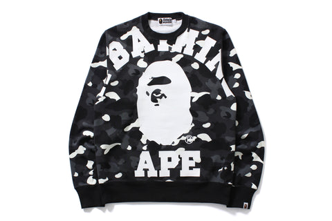 CITY CAMO BIG COLLEGE CREWNECK