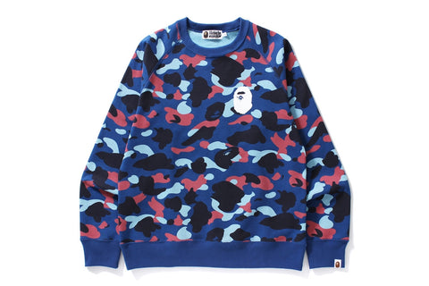 COLOR CAMO APE HEAD CREWNECK