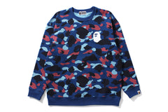COLOR CAMO OVERSIZED CREWNECK