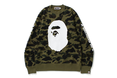 1ST CAMO BIG APE HEAD CREWNECK