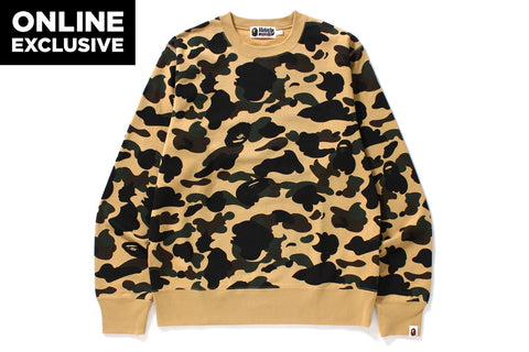 1ST CAMO CREW NECK -ONLINE EXCLUSIVE-