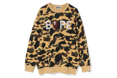 1ST CAMO EMBROIDERY OVERSIZED CREWNECK