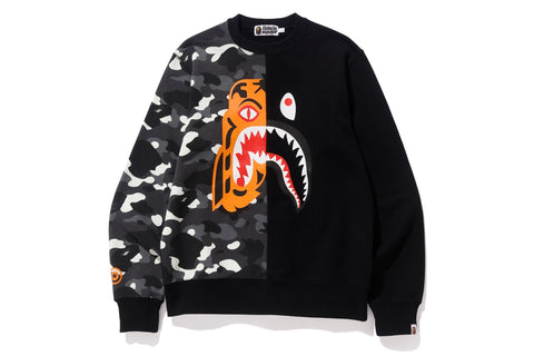 CITY CAMO TIGER SHARK CREWNECK