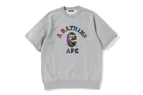 MIX CAMO COLLEGE S/S CREWNECK