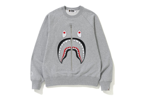 APPLIQUE SHARK CREWNECK