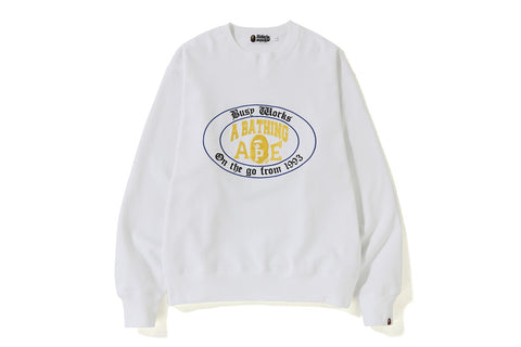 RELAXED COLLEGE LOGO CREWNECK