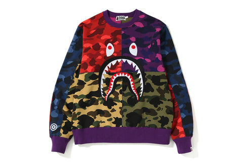 MIX CAMO SHARK CRAZY WIDE SWEAT